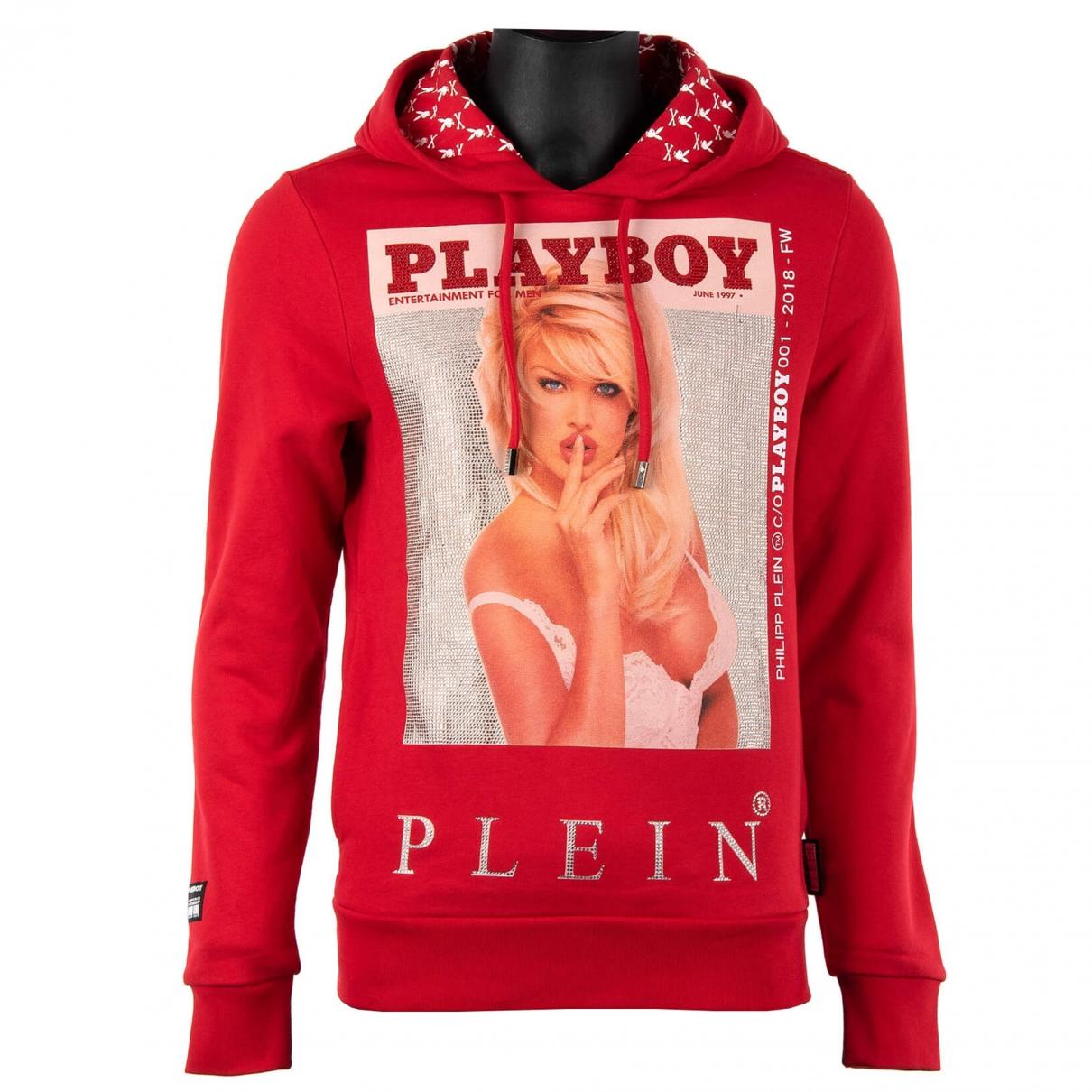 Philipp Plein \N Pullover.Westen.Sweatshirts  in  Rot Baumwolle