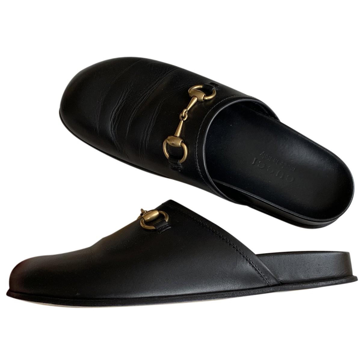 Gucci \N Sandalen in  Schwarz Leder