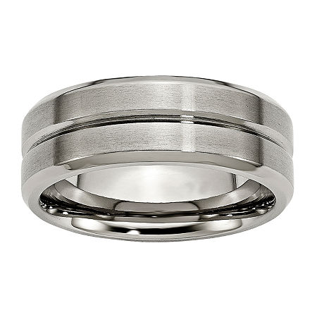 Personalized Mens 8mm Titanium Wedding Band, 11 , No Color Family
