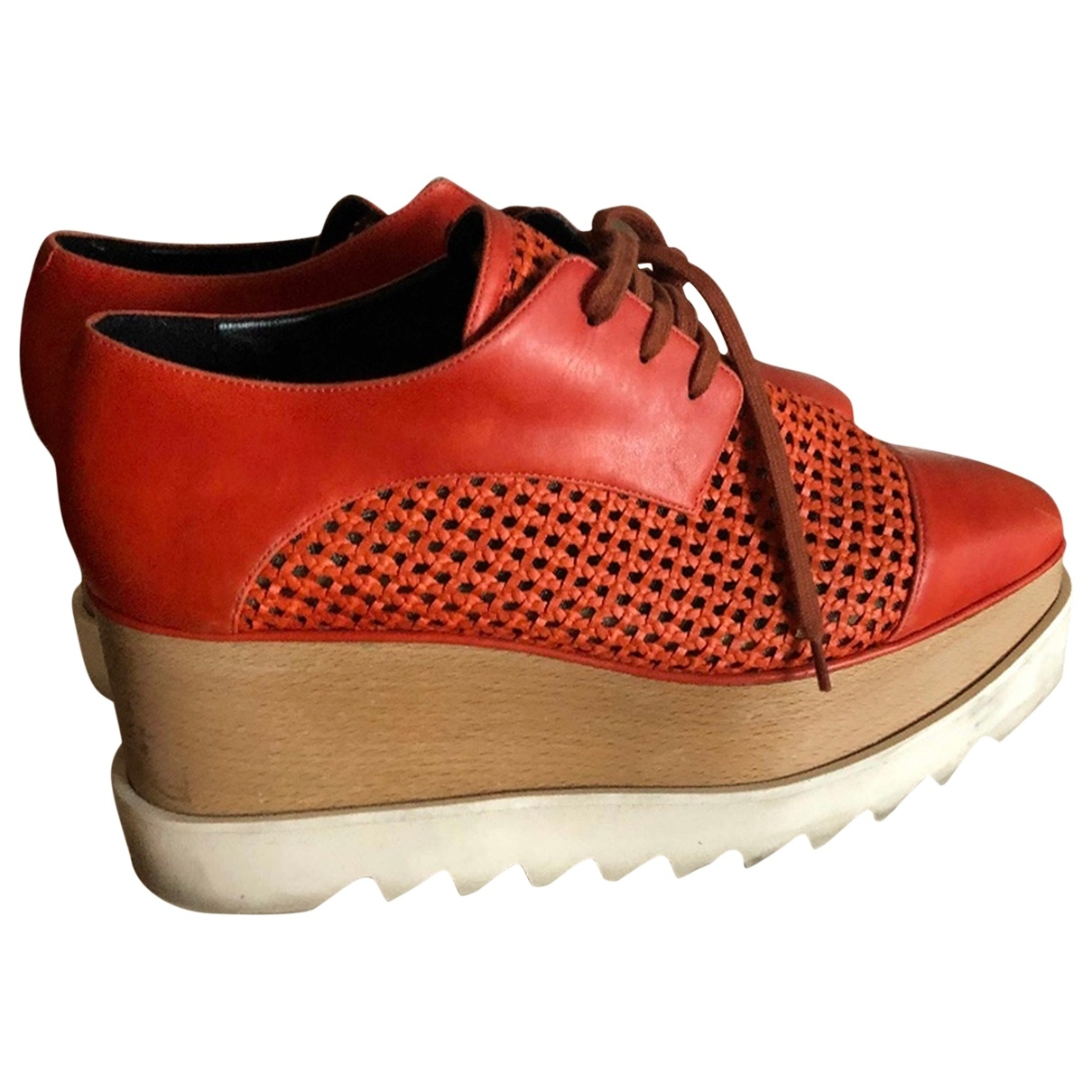 Stella Mccartney - Derbies Elyse pour femme en cuir verni - orange