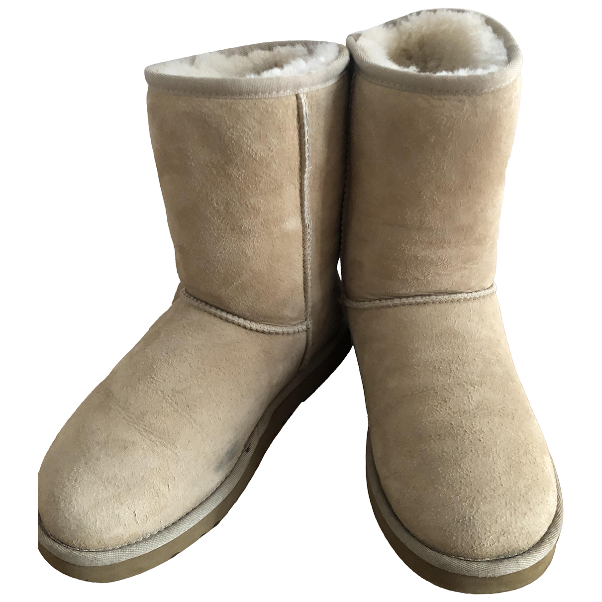 Ugg - Bottes   pour femme en mouton - beige