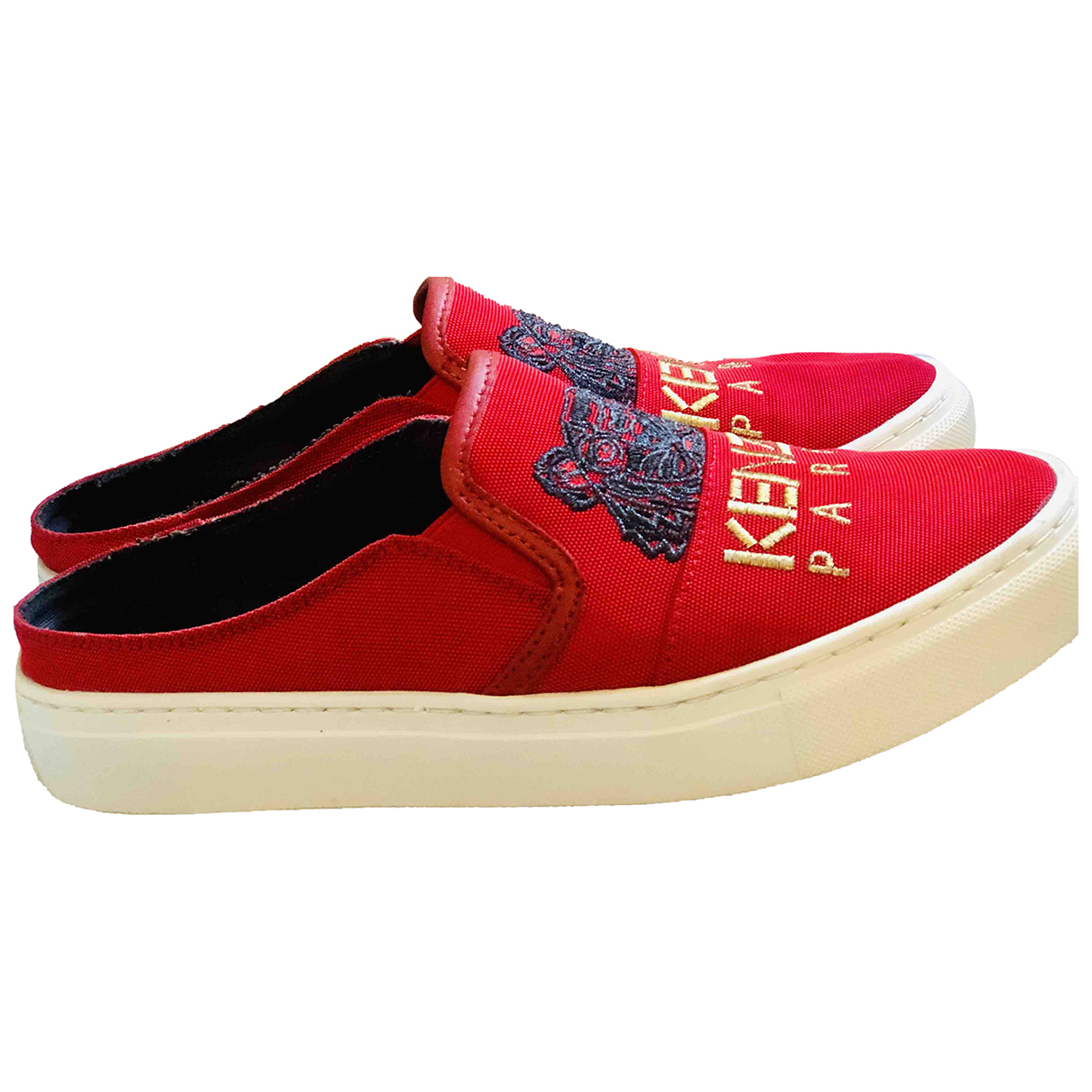Kenzo \N Sneakers in  Rot Leinen