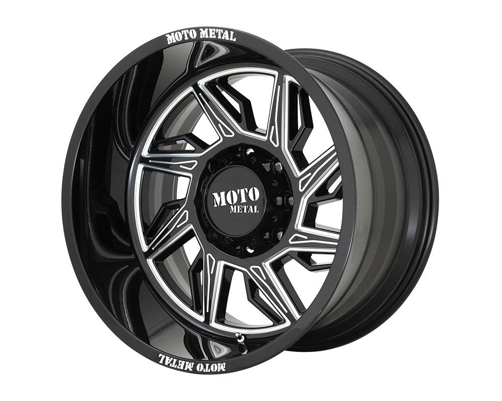 Moto Metal MO99721288344NR MO997 Hurricane Wheel 20x12 8x8x180 -44mm Gloss Black Milled - Right Directional