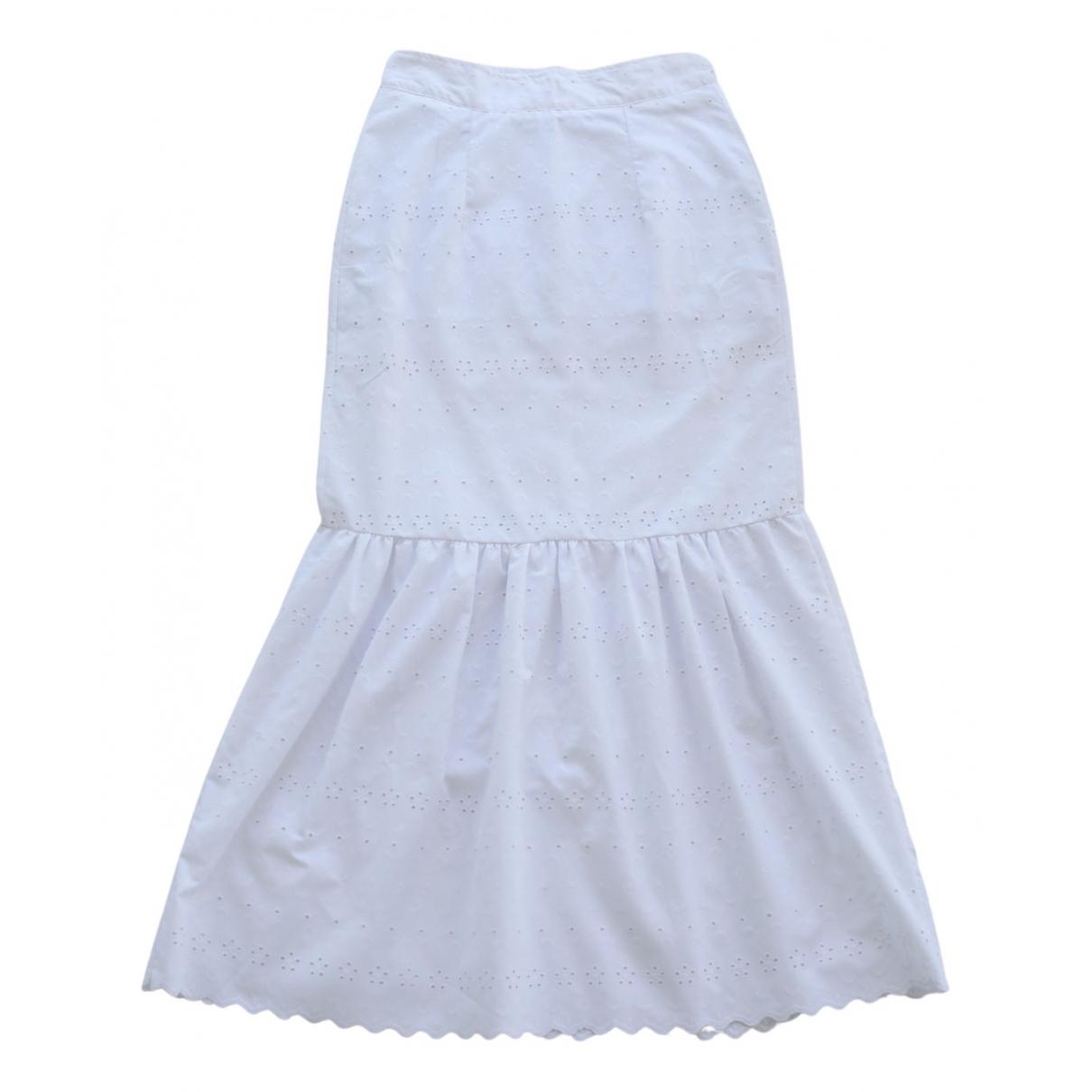 - Jupe Hippie Chic pour femme en coton - blanc
