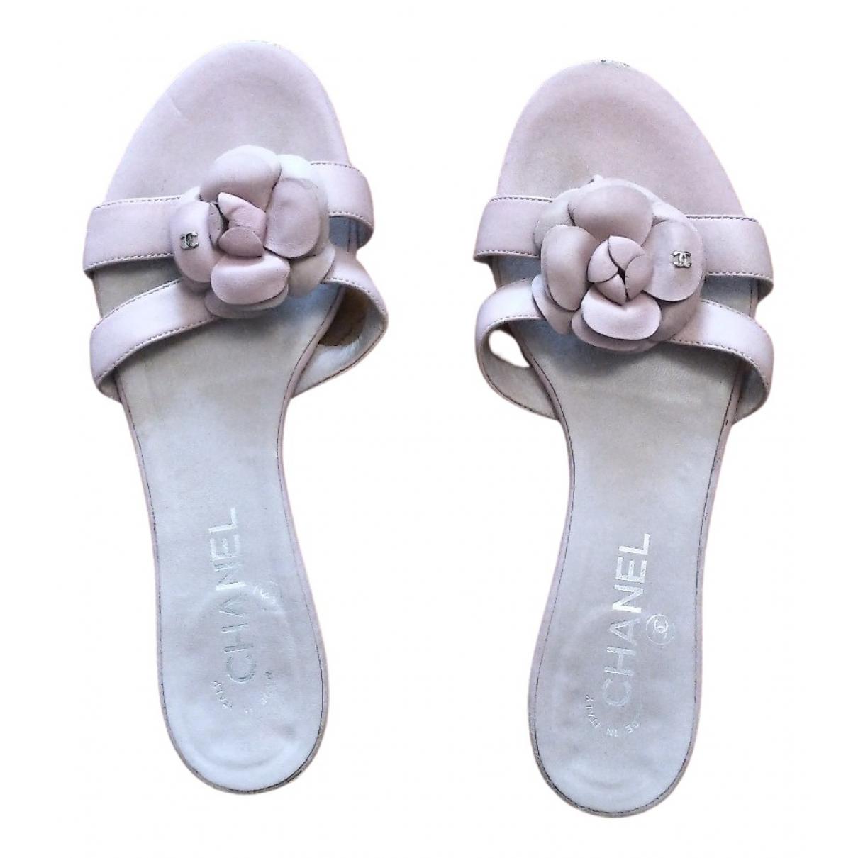 Chanel \N Sandalen in  Rosa Leder