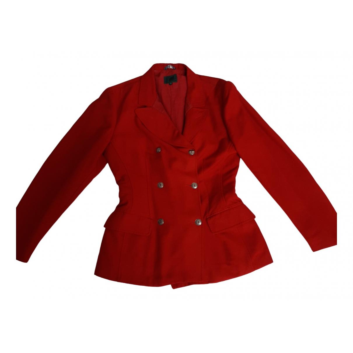 Jean Paul Gaultier \N Red Cotton jacket for Women 38 FR