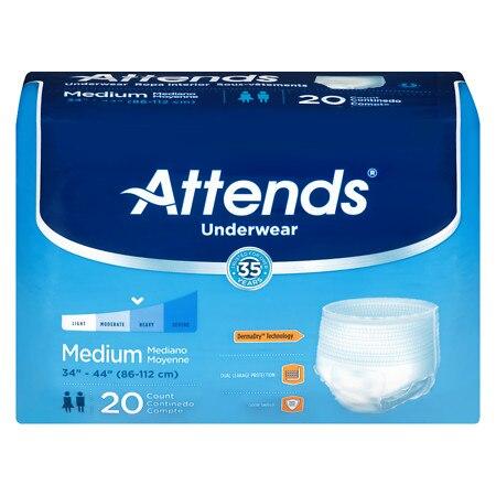Attends Underwear White - 20.0 Each