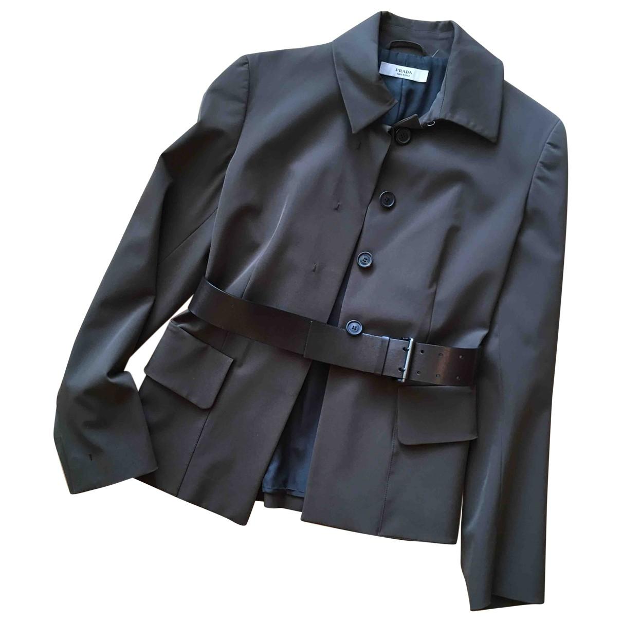 Prada \N Jacke in  Khaki Polyester