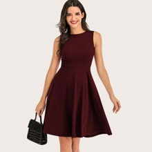 Dressystar Zip Back Fit & Flare Dress