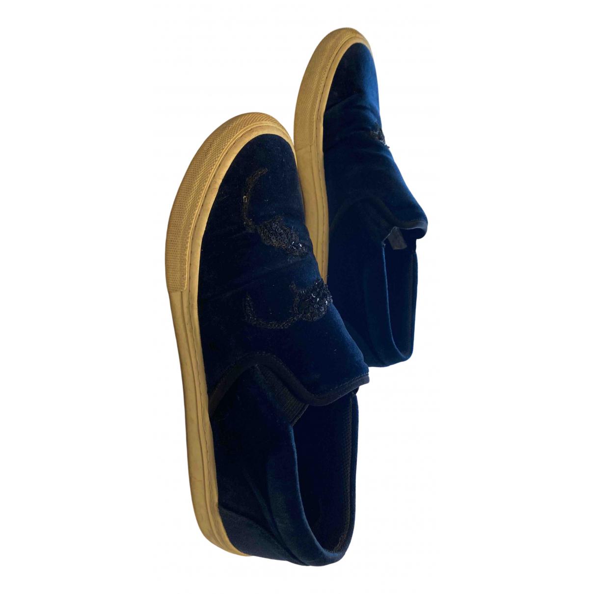 Marc Jacobs - Baskets   pour femme en velours - bleu