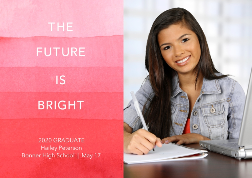 2020 Graduation Announcements 5x7 Cards, Premium Cardstock 120lb, Card & Stationery -The Future Is Bright Graduation Announcement by Hallmark