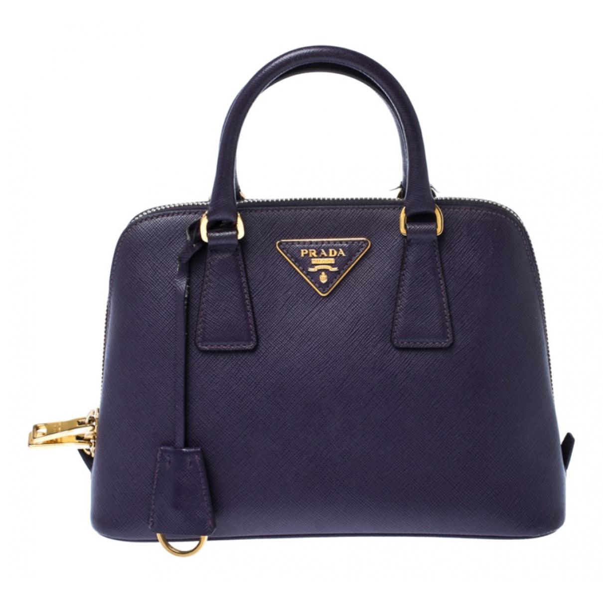 Prada - Sac a main Promenade pour femme en cuir - violet