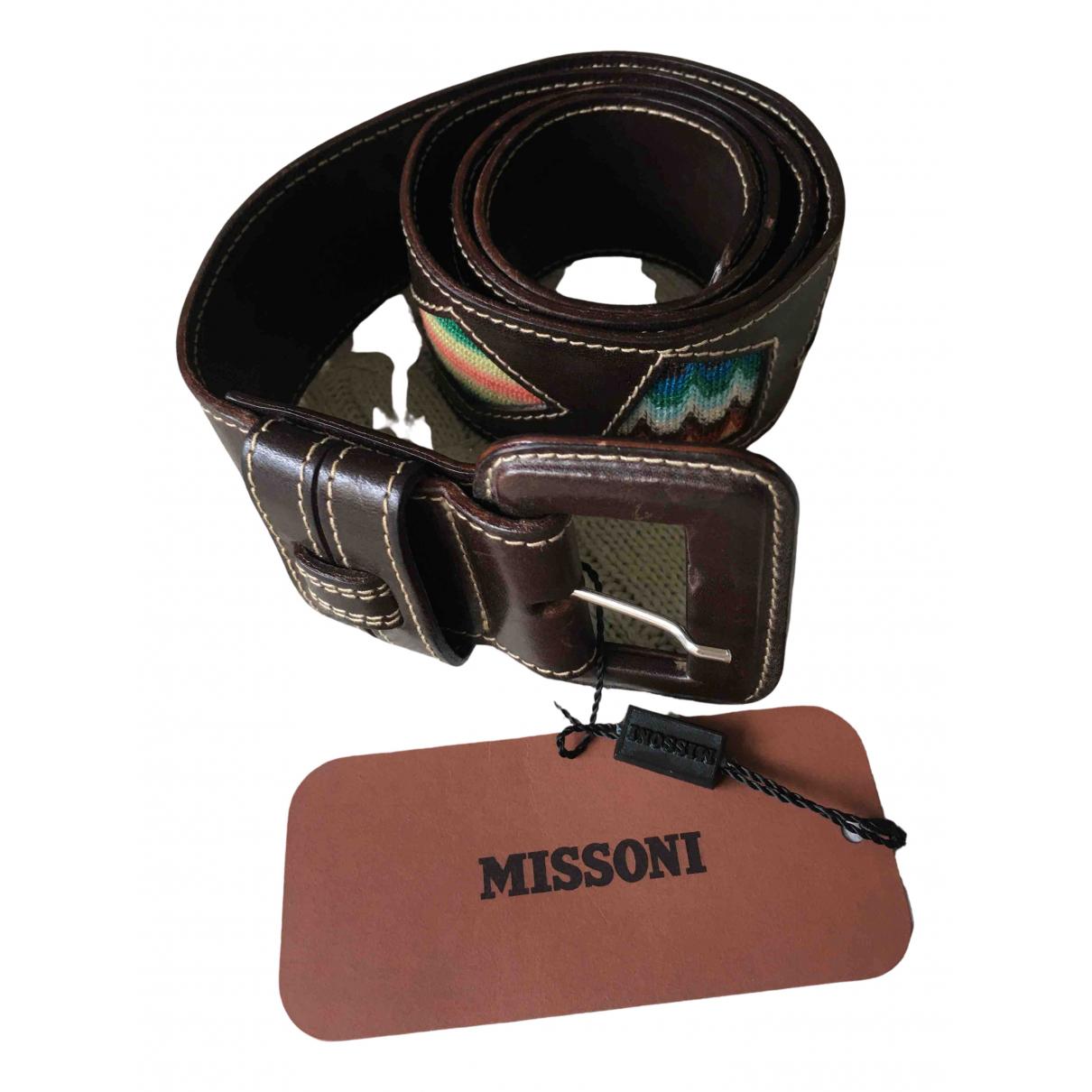 Missoni \N Brown Leather belt for Women M International