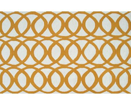 25465D 5 x 7.6 ft. Refraction Area Rug  in Yellow and