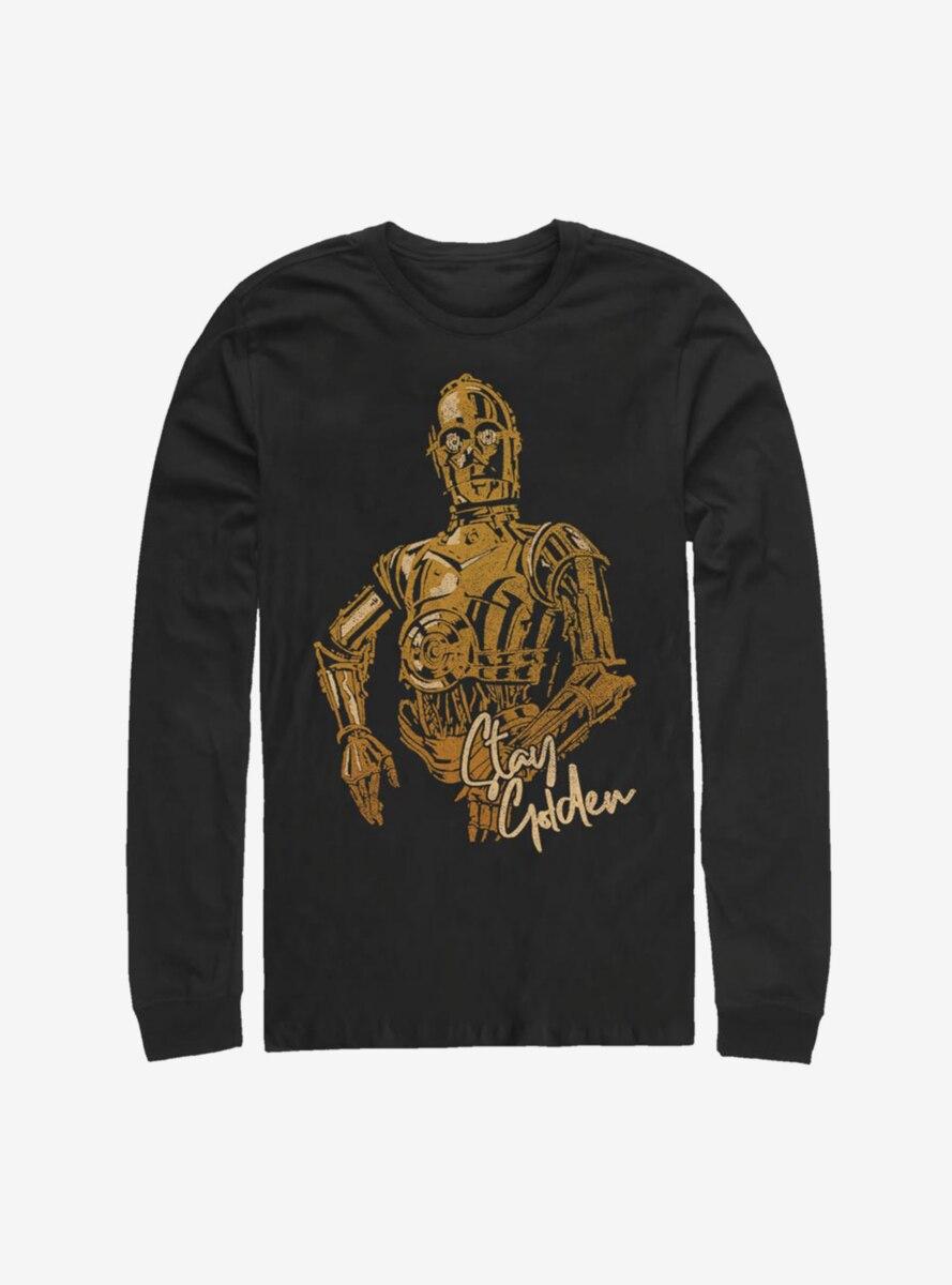 Star Wars Episode IX The Rise Of Skywalker C3PO Stay Golden Long-Sleeve T-Shirt