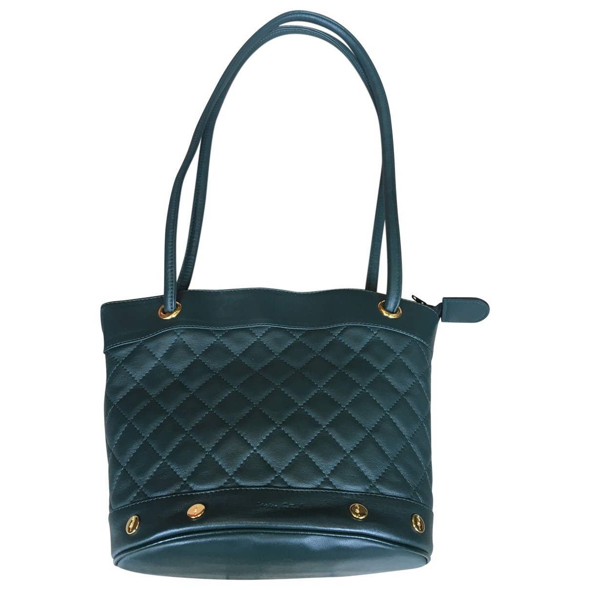 Non Signé / Unsigned \N Green handbag for Women \N