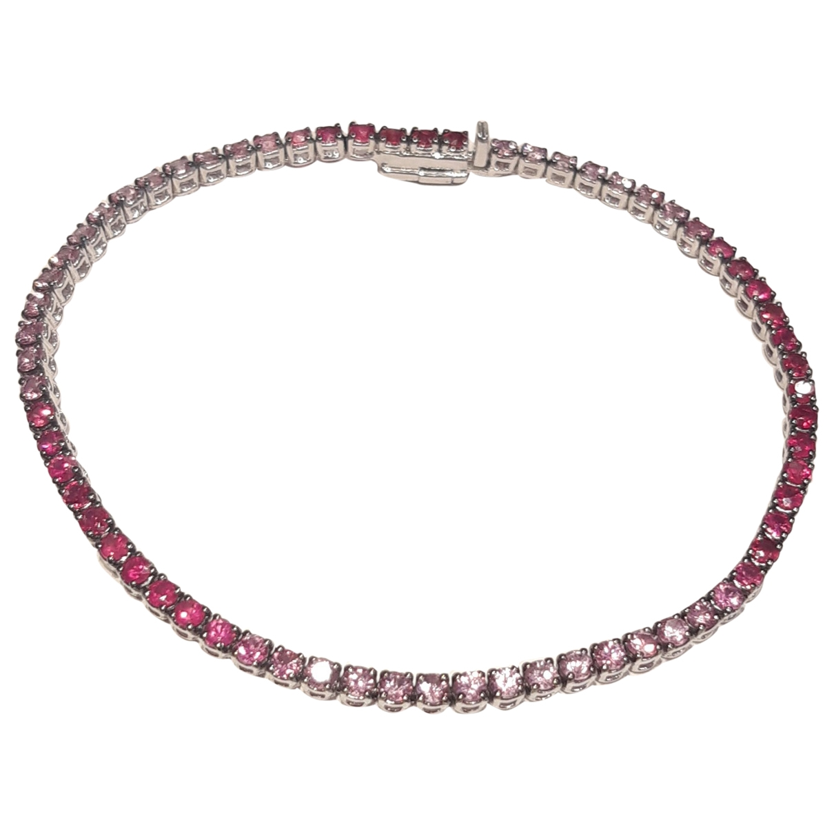 - Bracelet Tennis pour femme en or blanc - rose