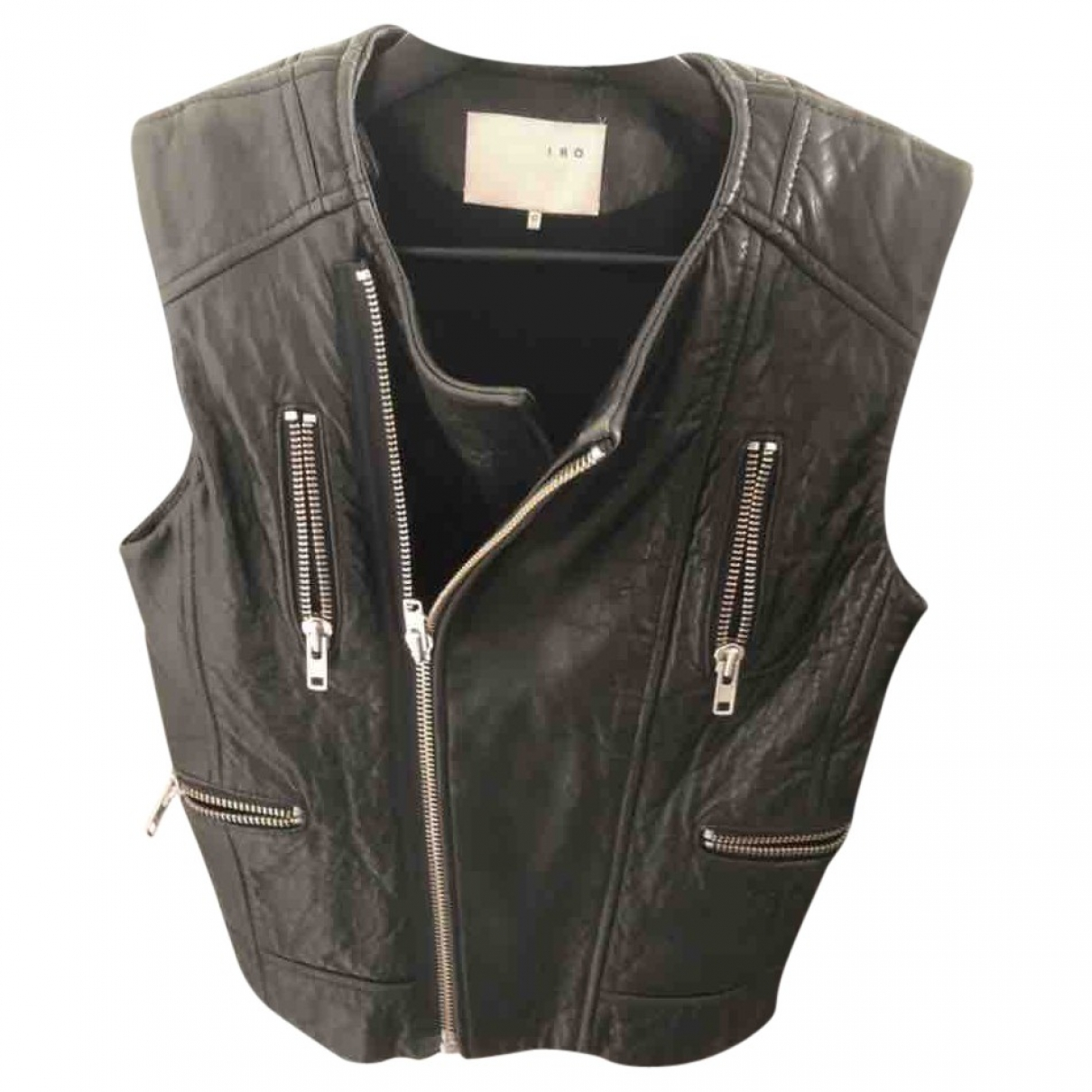 Iro \N Black Leather jacket for Women 0 0-5