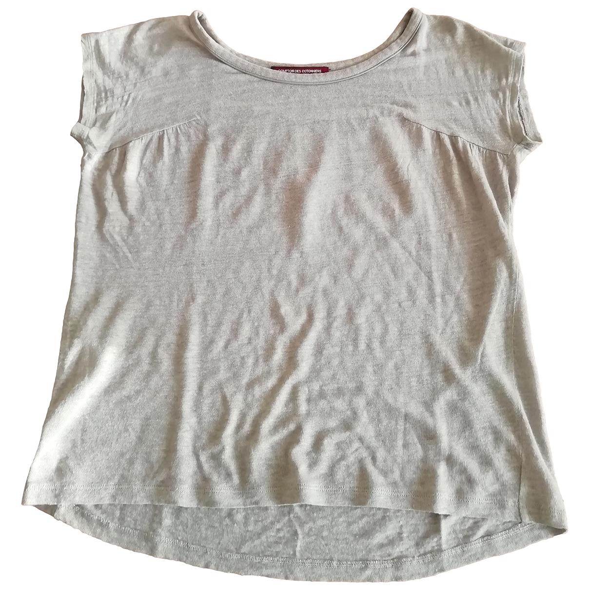 Comptoir Des Cotonniers \N Ecru Linen  top for Women 2 0-5