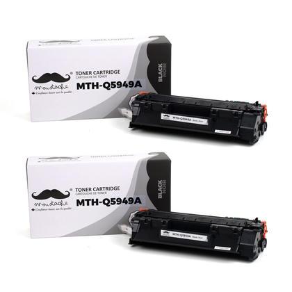 Compatible HP 49A Q5949A Black Toner Cartridge - Moustache - 2/Pack