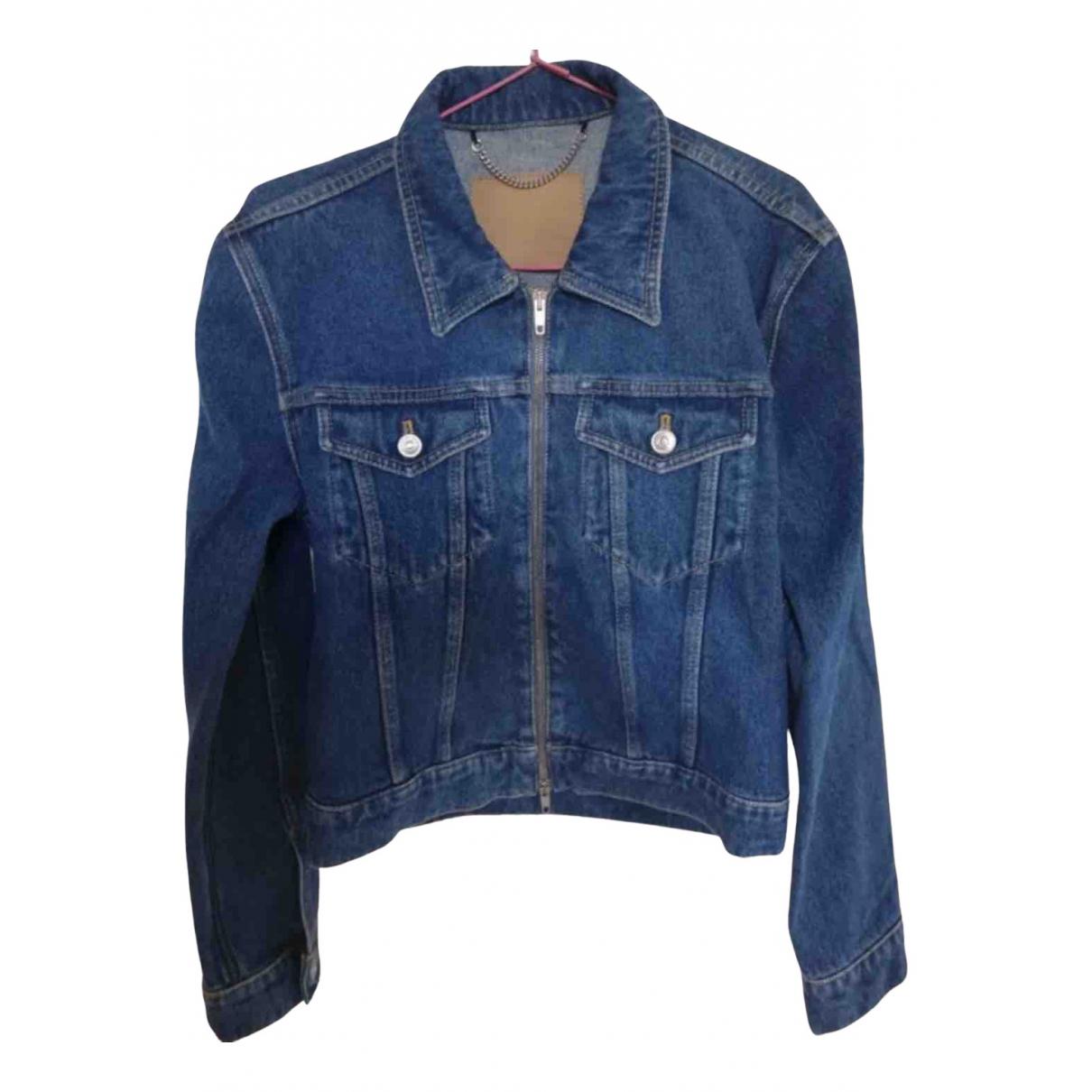 Balenciaga - Veste   pour femme en coton - bleu