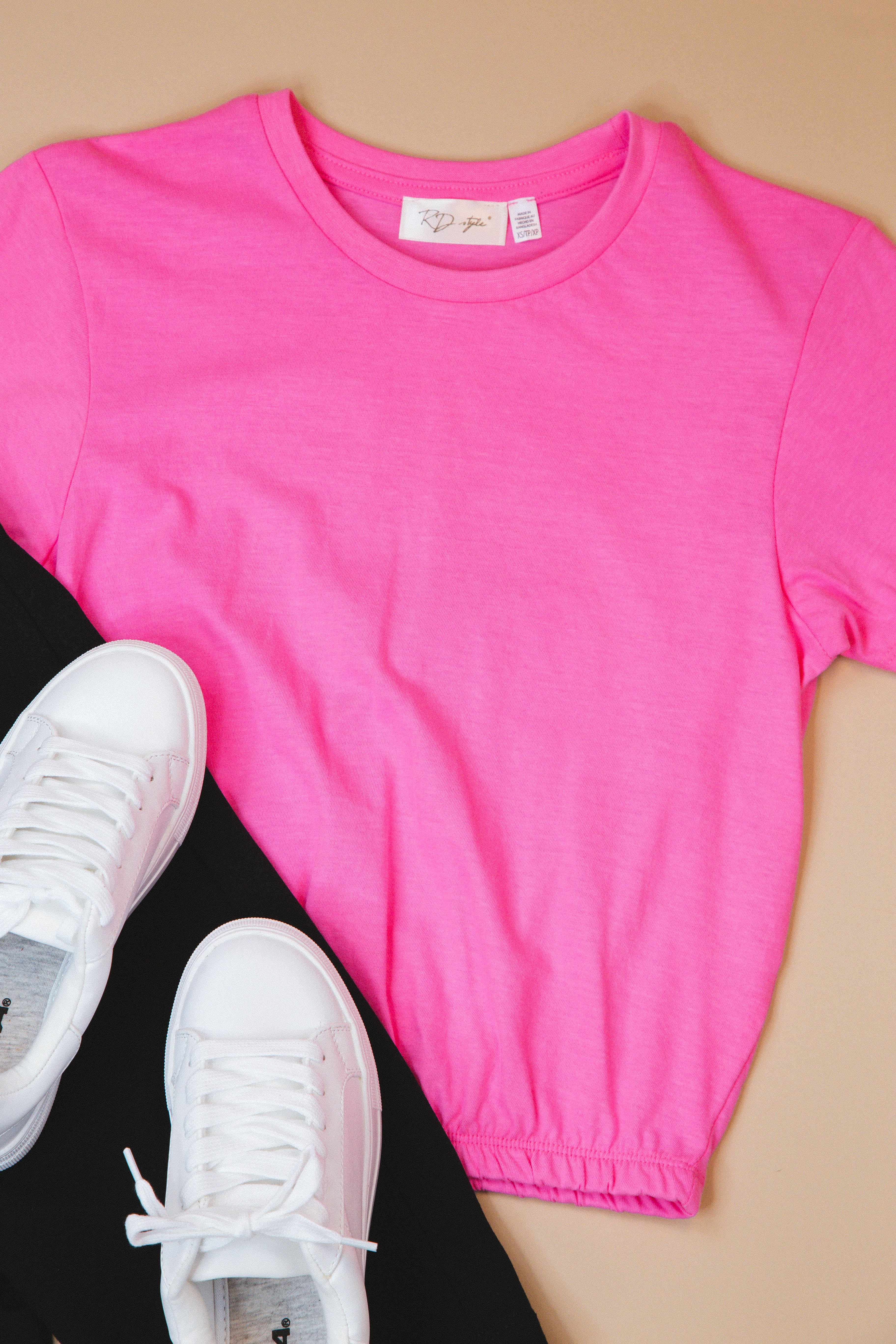 Someone New Round Neck Tee Pink | RD Style
