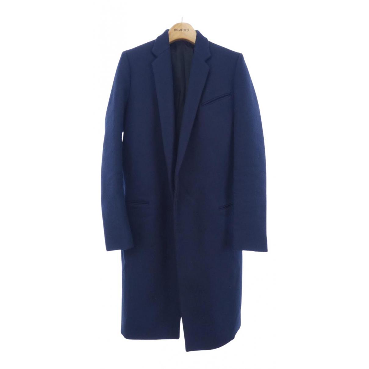 Celine N Blue Wool coat for Women 34 FR