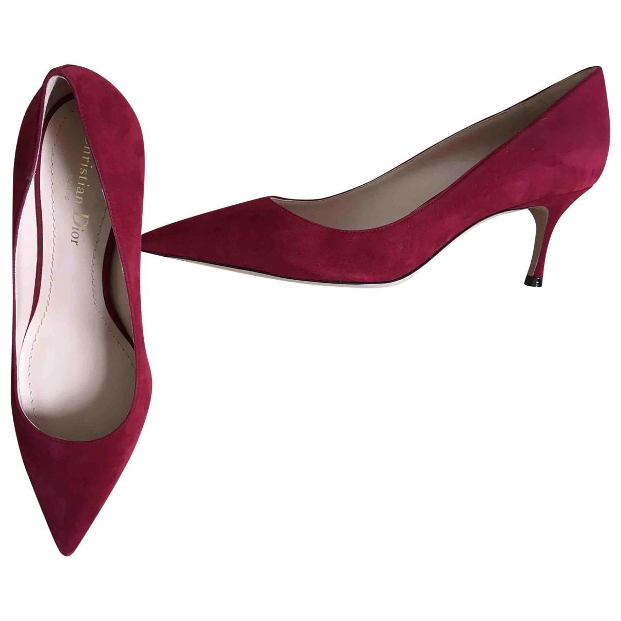 Dior Dior D-Stiletto Red Suede Heels for Women 38 EU