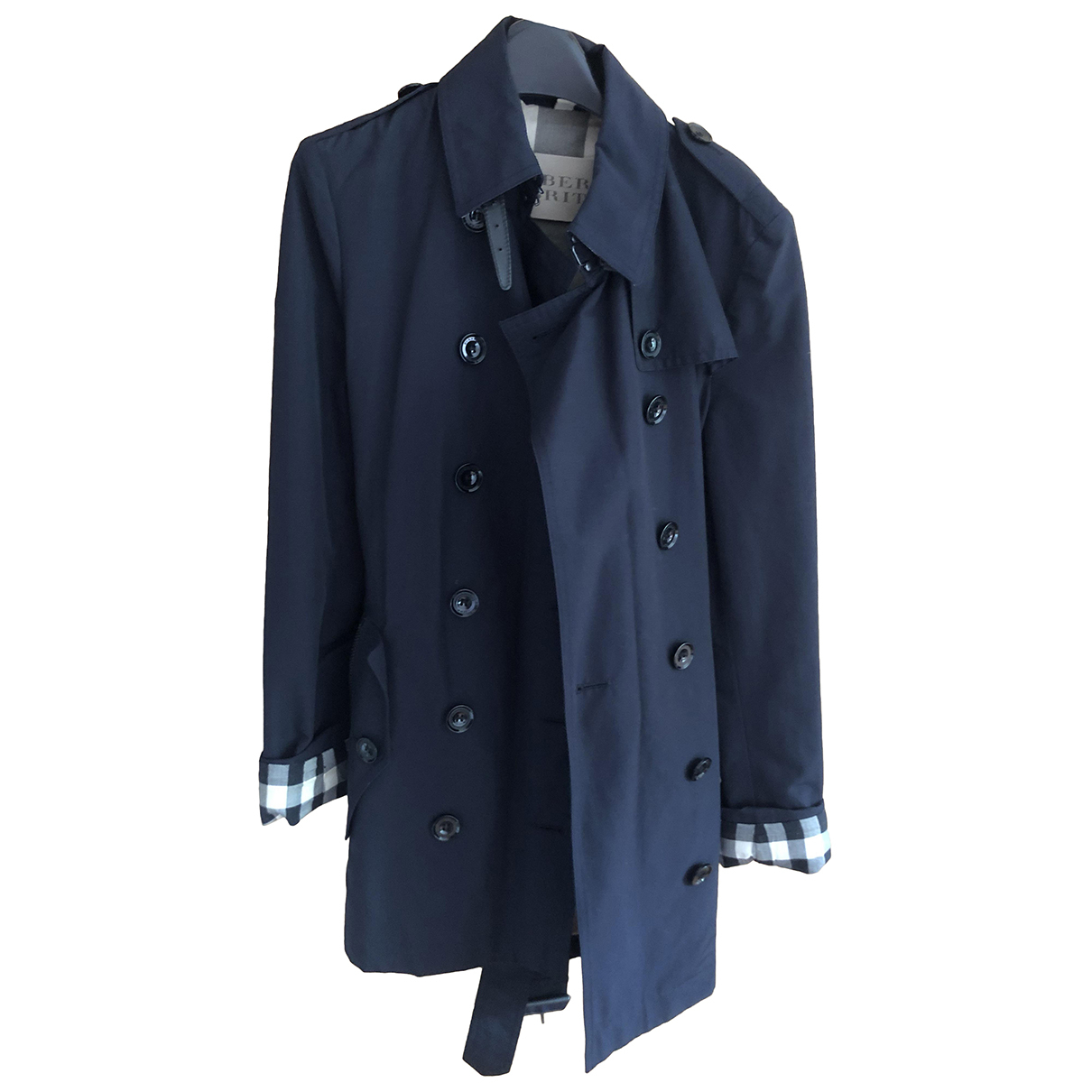 Burberry \N Trench in  Marine Baumwolle