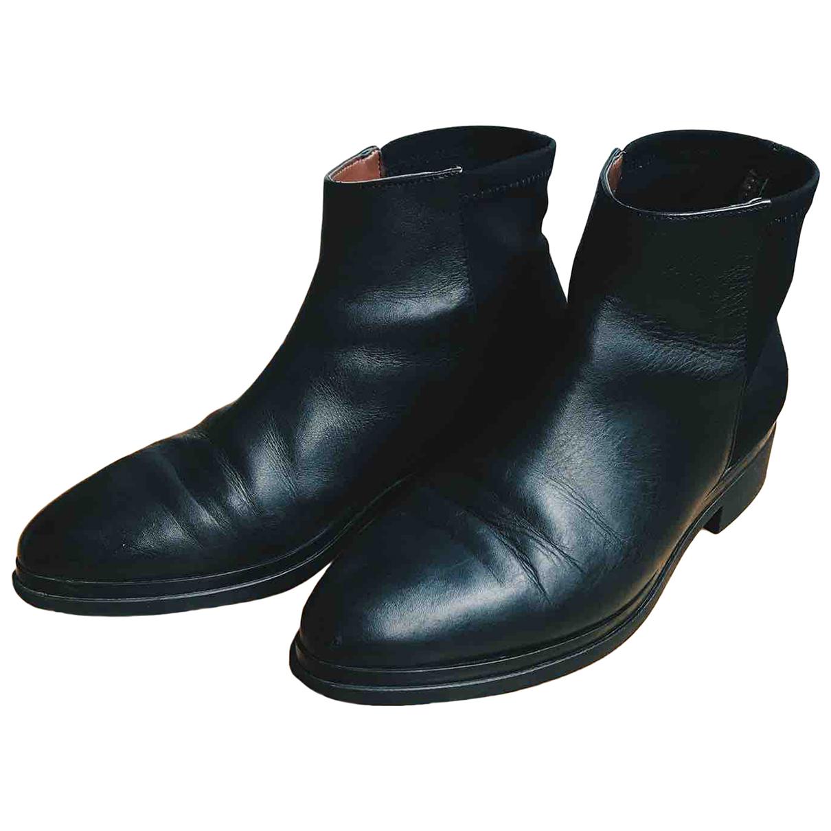 Bcbg Max Azria N Black Leather Boots for Women 40 EU