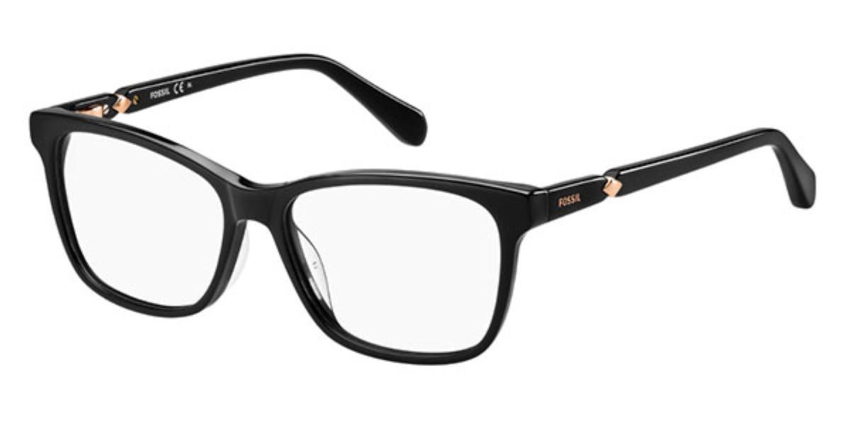 Fossil FOS 7033 807 Women's Glasses Black Size 51 - Free Lenses - HSA/FSA Insurance - Blue Light Block Available