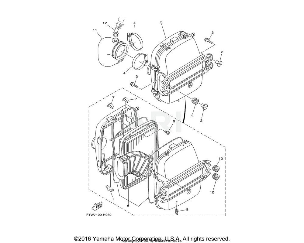 Yamaha OEM 90460-90M11-00 CLAMP, HOSE