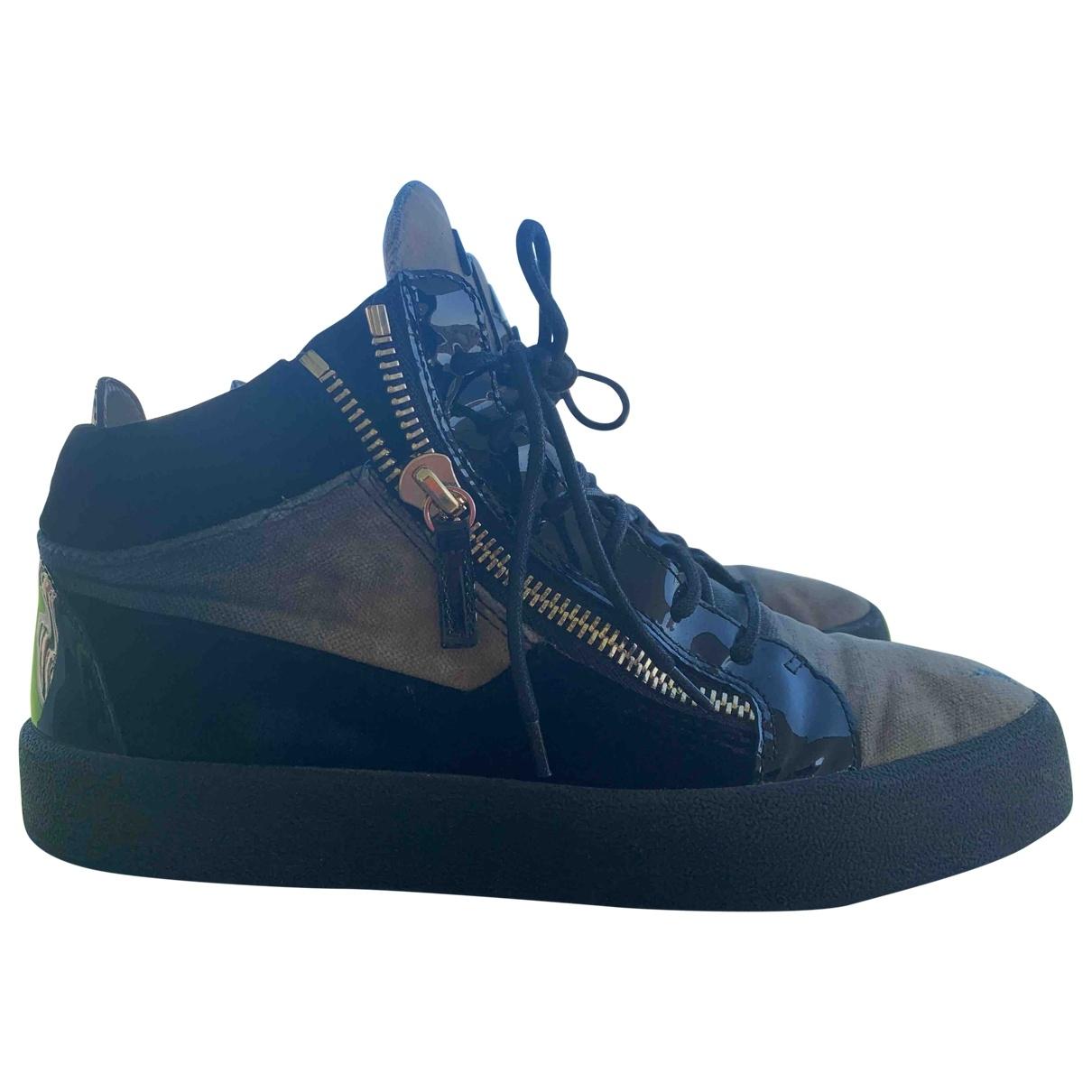 Giuseppe Zanotti - Bottes.Boots   pour homme en suede - beige