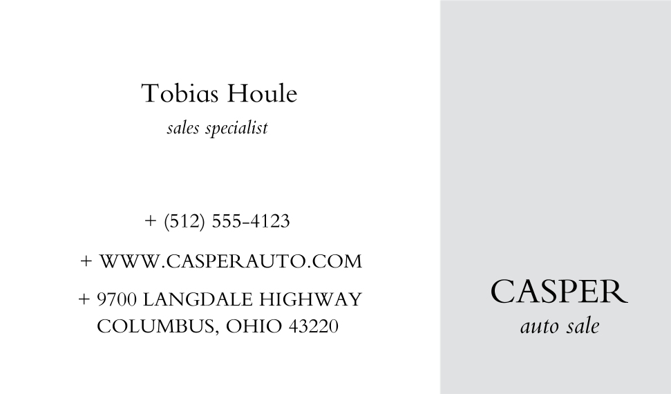 Business Cards Business Cards, Set of 40, Silk Rounded, Card & Stationery -Classic Auto