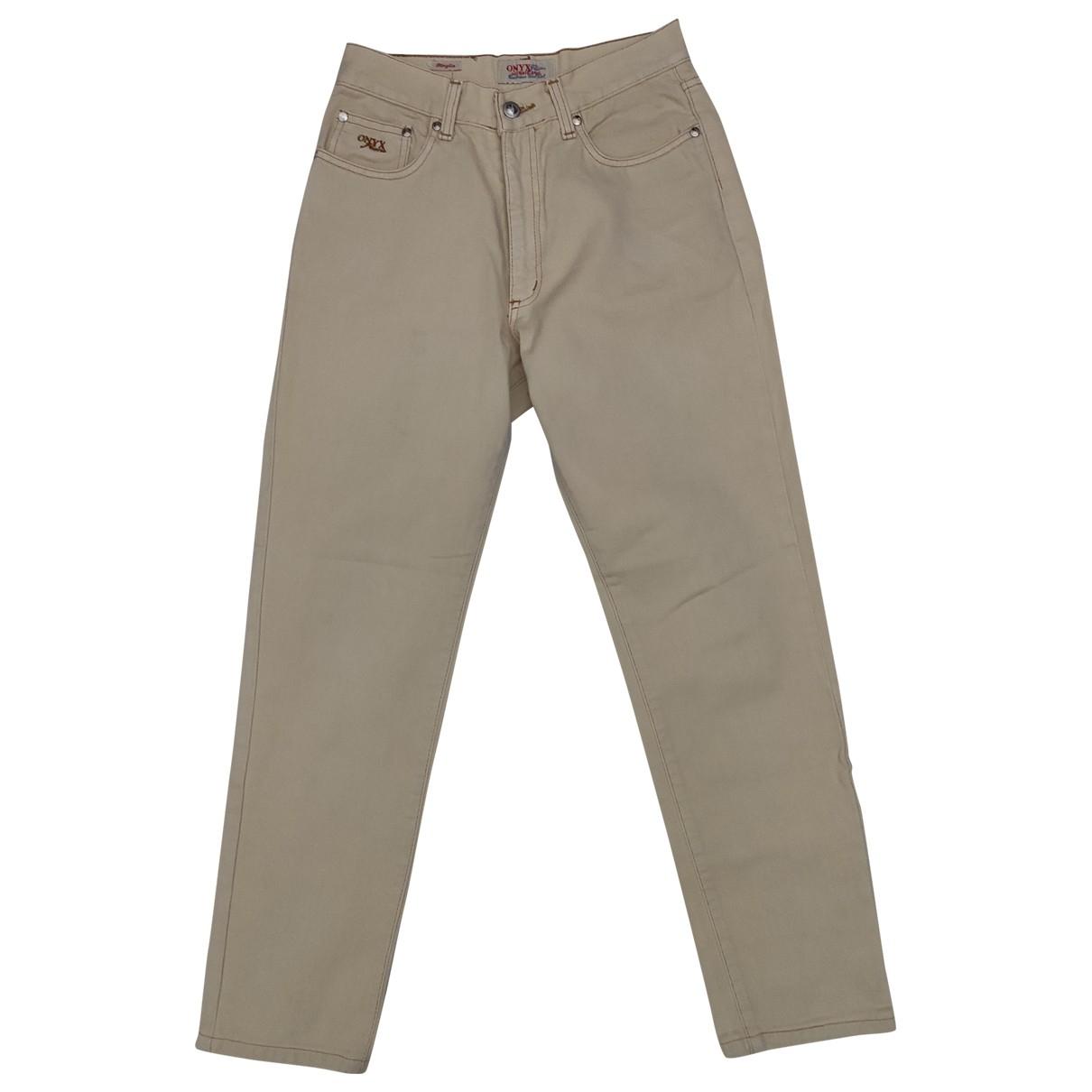 Non Signé / Unsigned N Beige Denim - Jeans Jeans for Women 30 US