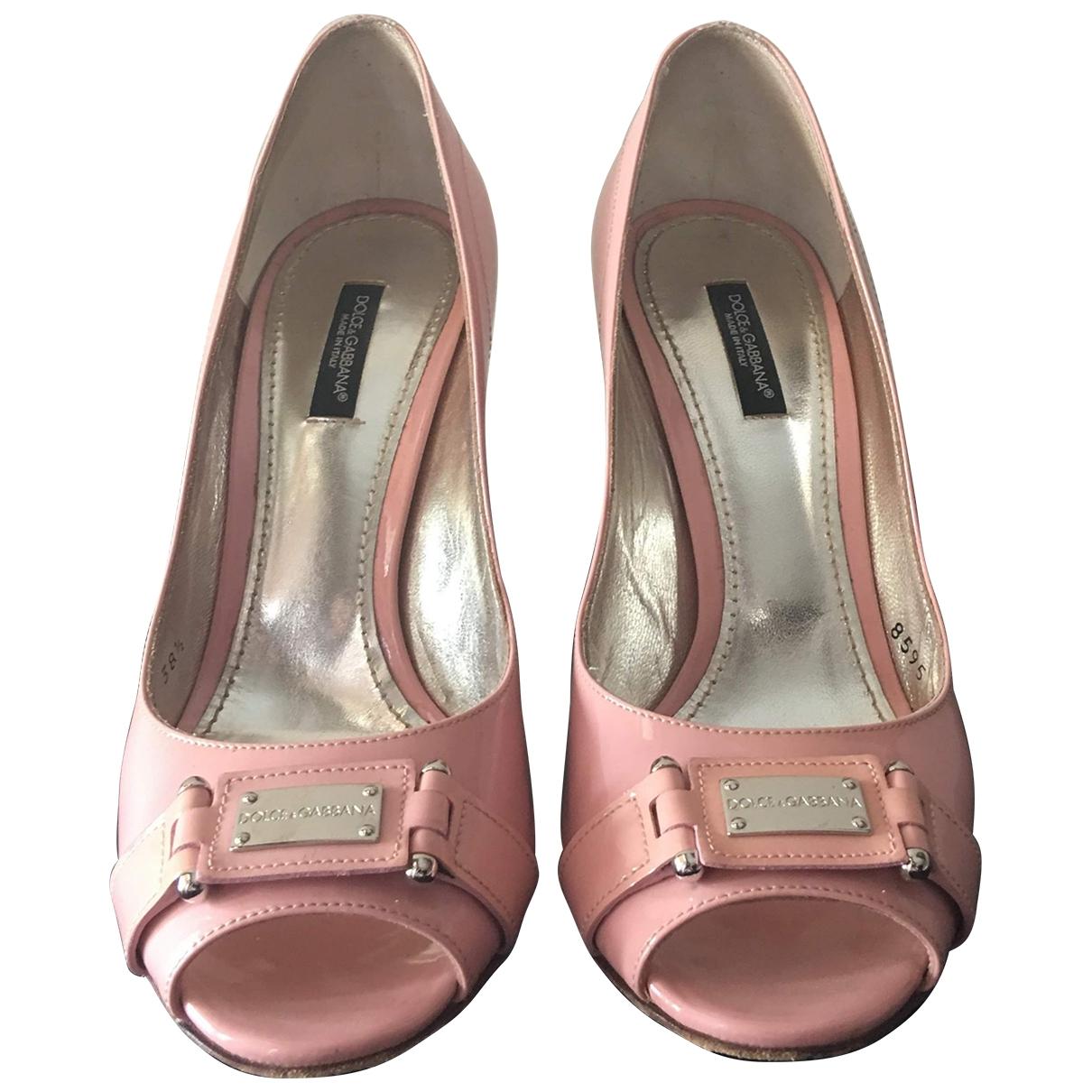Dolce & Gabbana - Escarpins   pour femme en cuir - rose