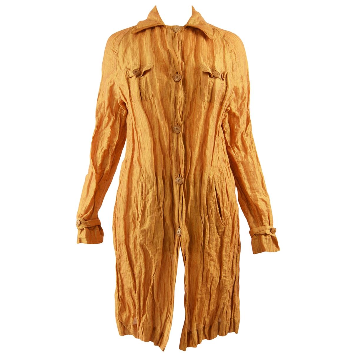 Romeo Gigli - Veste   pour femme en coton - dore