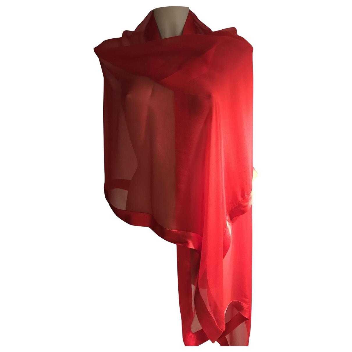 - Foulard   pour femme en soie - rouge