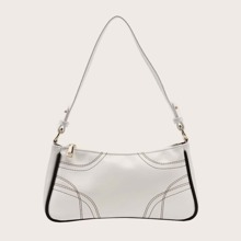 Stitch Detail Baguette Bag