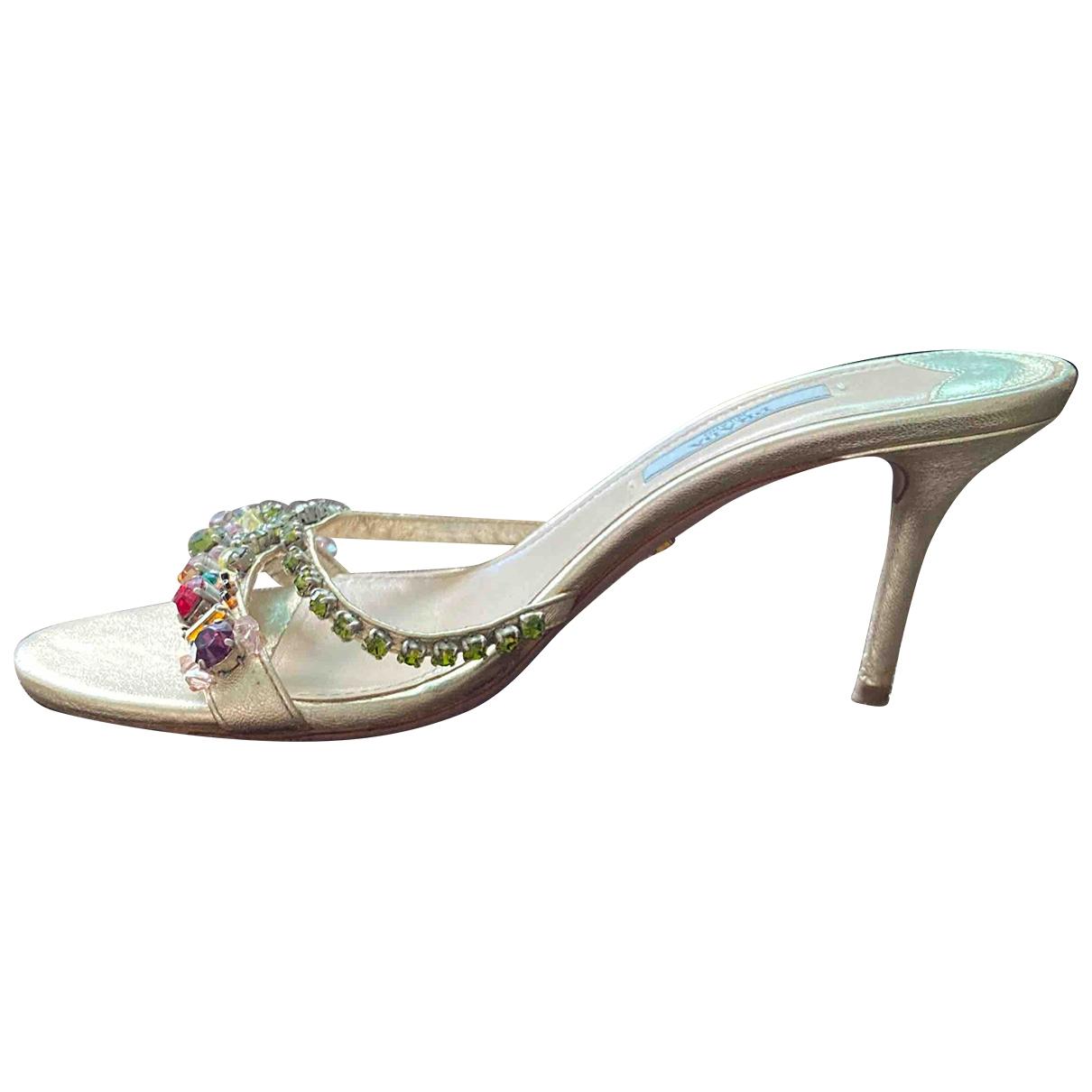 Prada - Sandales   pour femme en a paillettes - multicolore