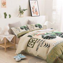 Set de cama con estampado de gato sin relleno