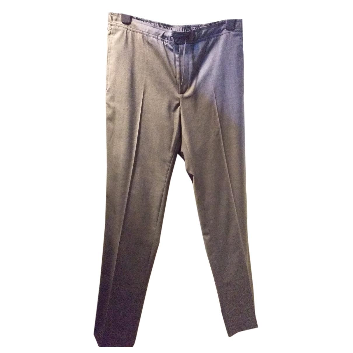 Sandro Fall Winter 2019 Grey Wool Trousers for Men 44 FR
