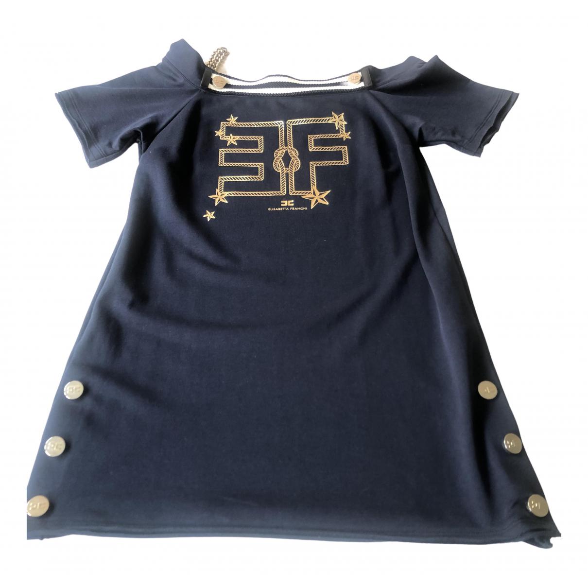 Elisabetta Franchi \N Kleid in  Blau Baumwolle