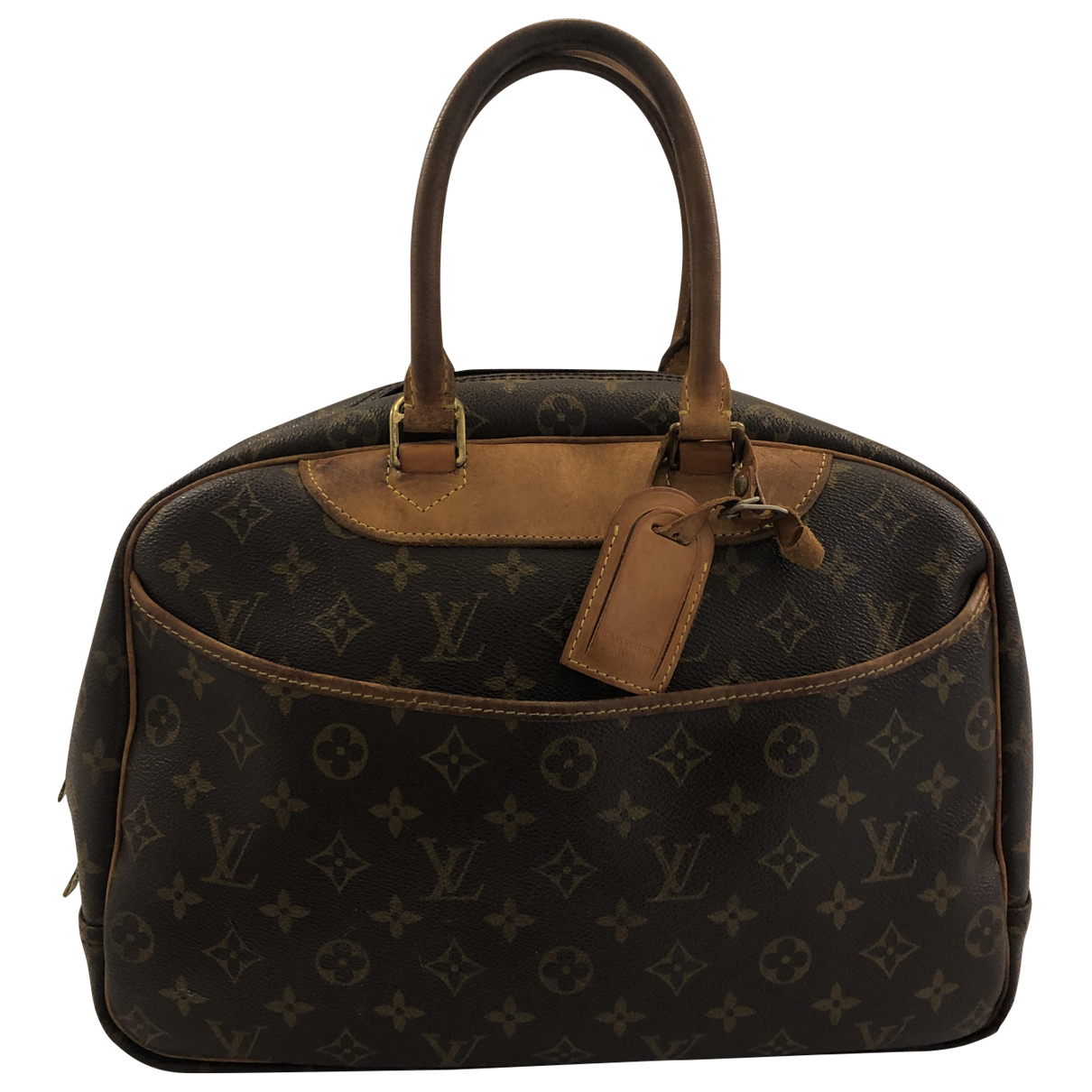 Louis Vuitton Deauville Brown Cloth Travel bag for Women \N