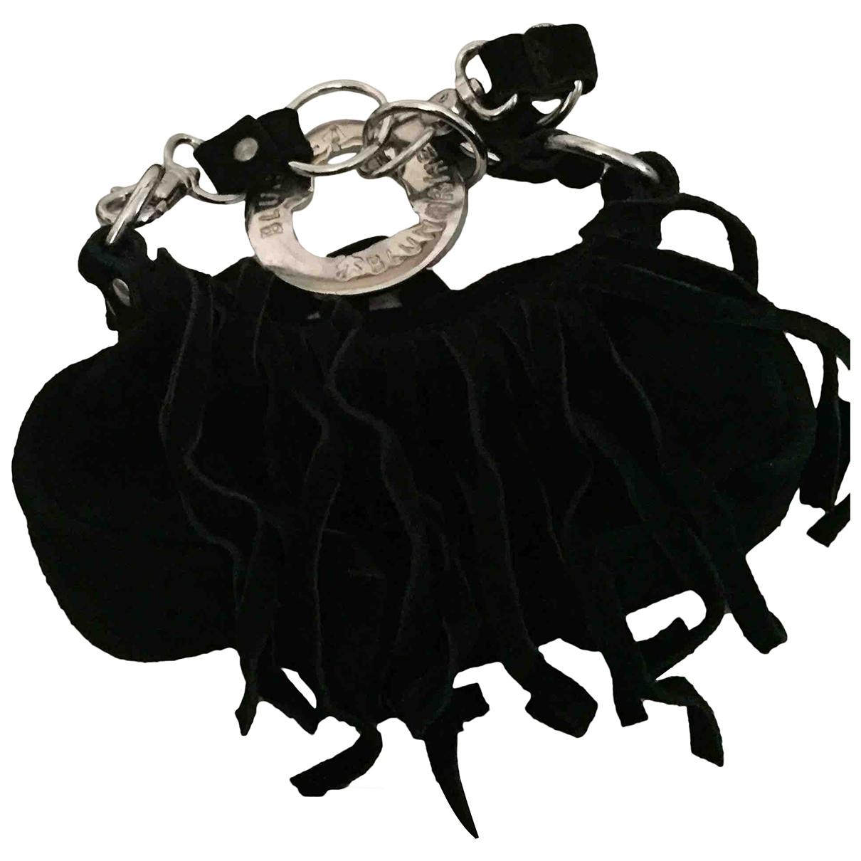 Blumarine - Sac a main   pour femme en suede - noir