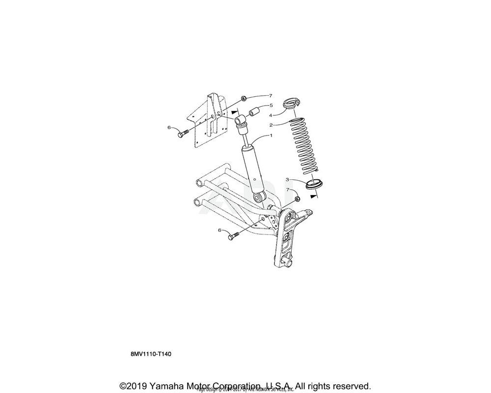 Yamaha OEM 8JM-F3777-00-00 SEAT, SPRING 2