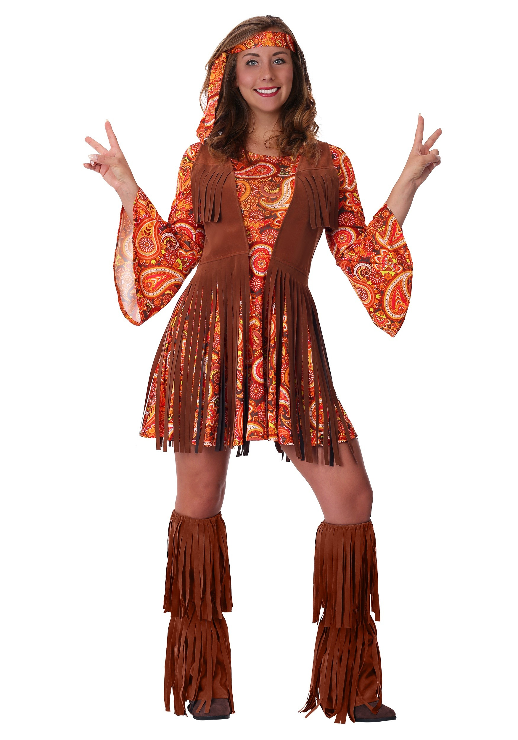 Fringe Hippie Womens Costume | 1960 Costumes