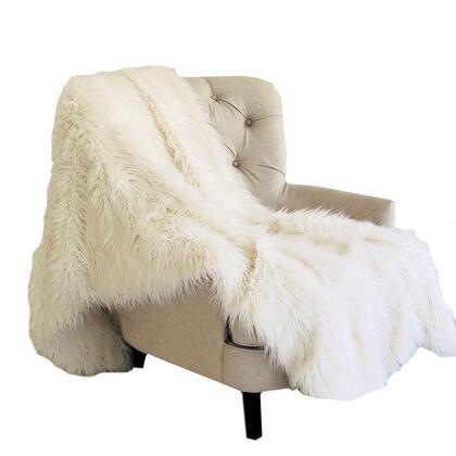 Mongolian Fur Off White Collection PBSF1433-4860-TC 48W x 60L Faux Luxury