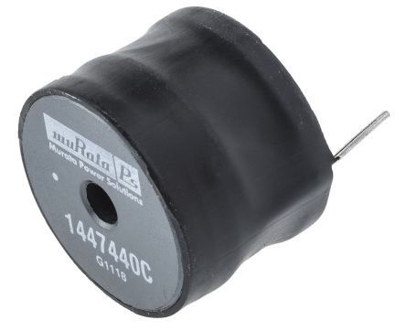 Murata Power Solutions Murata 470 μH ±10% Radial Inductor, Max SRF:1.4MHz, Q:24, 4A Idc, 125mΩ Rdc, 1400