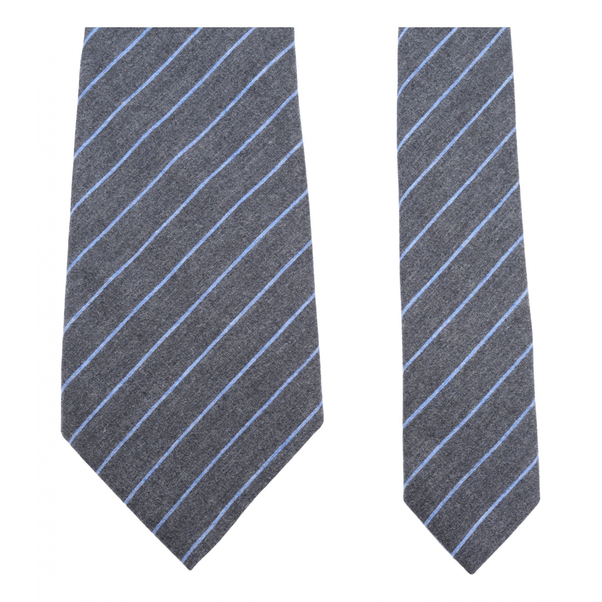 Giorgio Armani N Grey Cashmere Ties for Men N